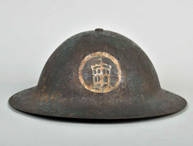 BRITISH WWI LONDON REGIMENT BRODIE HELMET.