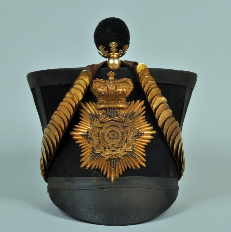 ENGLISH BELL TOP SHAKO 11th FOOT.