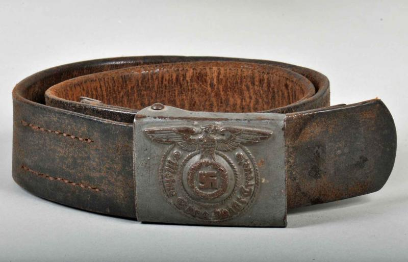 GERMAN WWII WAFFEN SS ENLISTED MANS BELT AND BUCKLE.