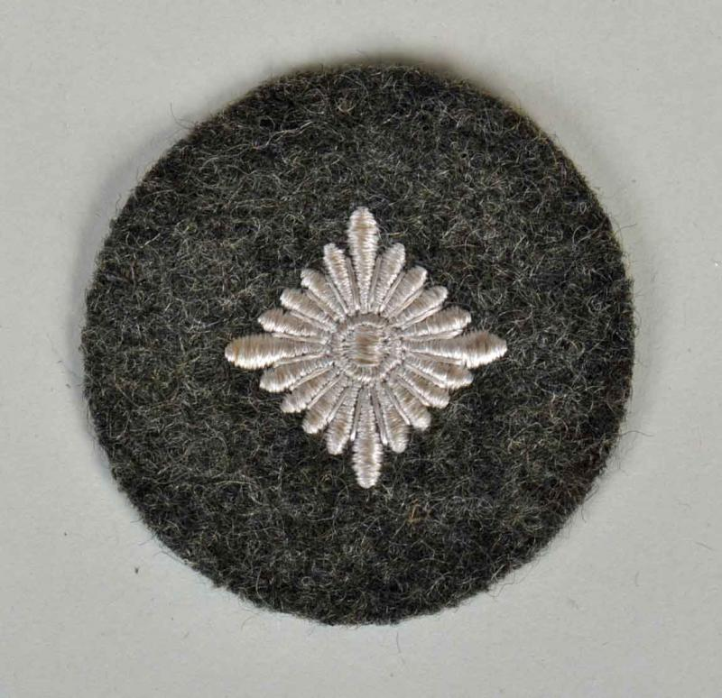 GERMAN WWII  ARMY OBERSCHUTZ PATCH FIELD GREY BACKING.