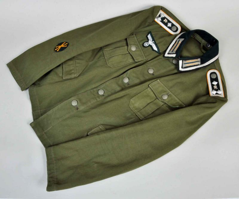 GERMAN WWII ARMY LIGHTWEIGHT SENIOR NCO CAVALRY TUNIC.