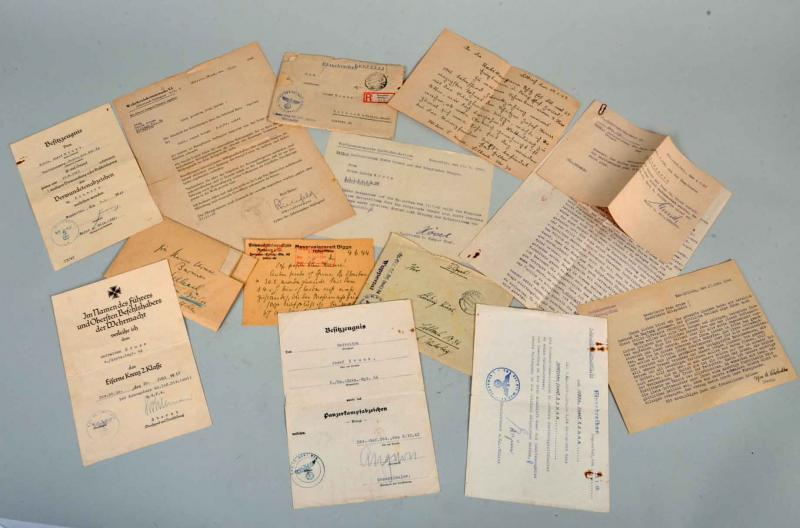 GERMAN WWII STALINGRAD GROUP OF DOCUMENTS.