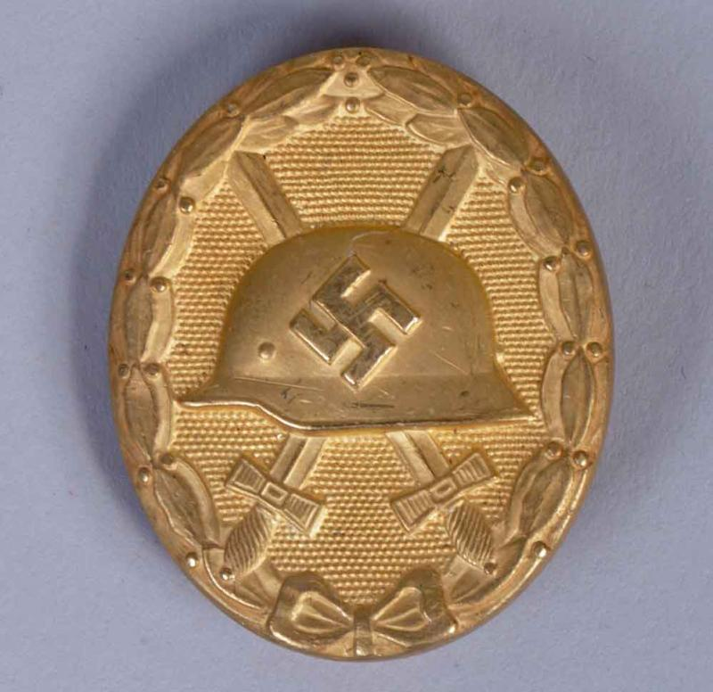 GERMAN WWII WOUND BADGE IN GOLD.